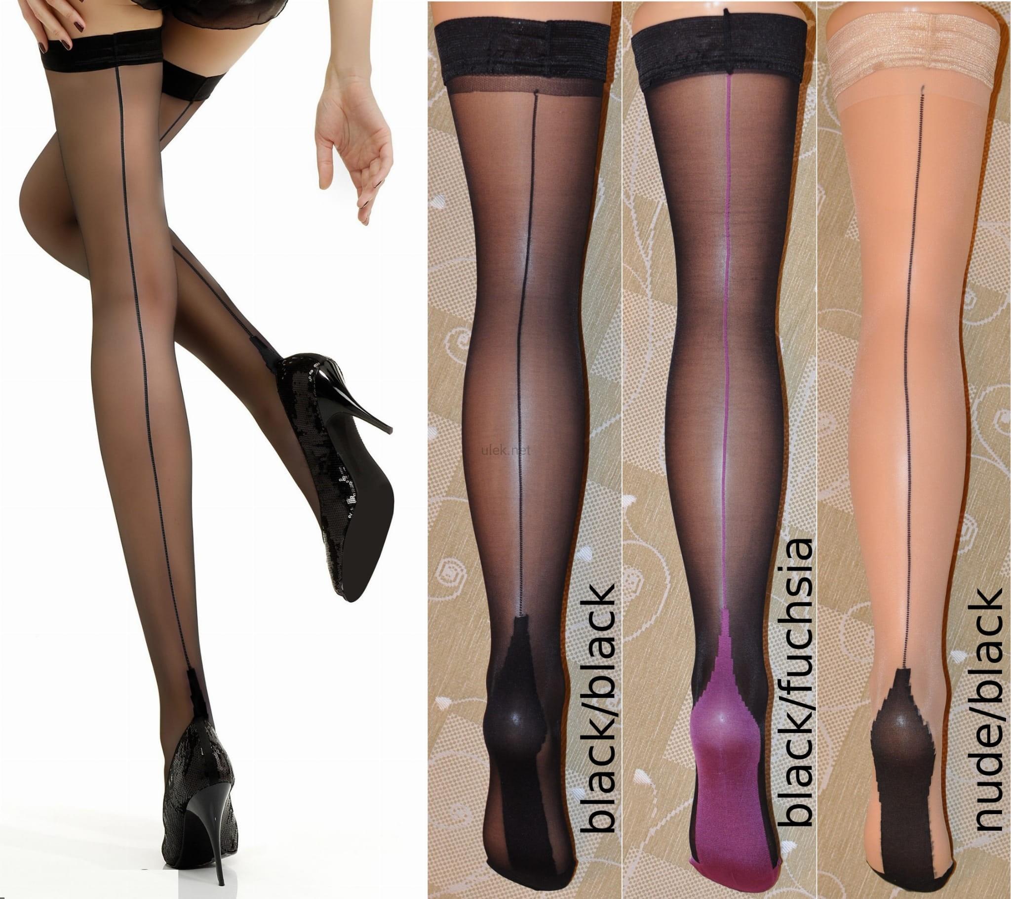 Jonathan Aston Vintage Legs Contrast Seam and Heel Stockings